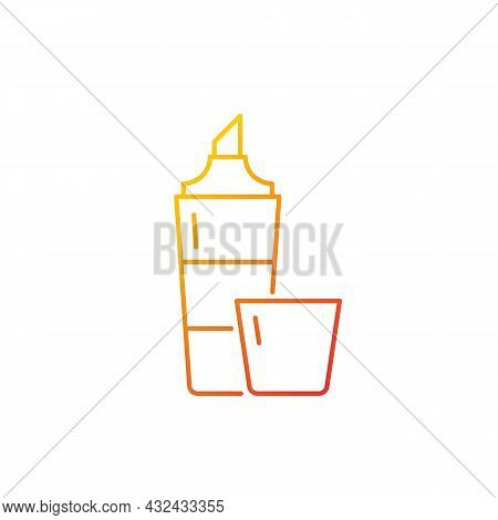Highlighter Gradient Linear Vector Icon. Broad Marker Pen For Marking Important Text Part. Supplies