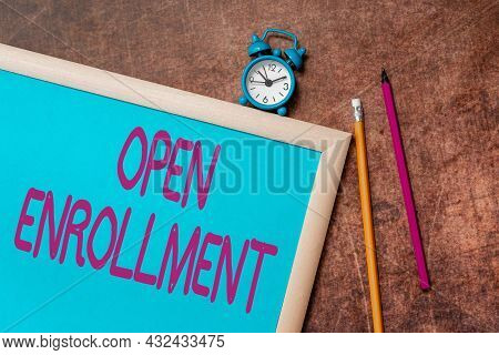 Conceptual Display Open Enrollment. Business Overview Policy Of Allowing Qualifying Students To Enro