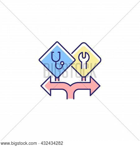 Freedom Of Choice Rgb Color Icon. Career Option For Girls. Female Empowerment. High-potential Women.