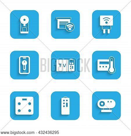 Set Multimedia And Tv Box Receiver, Remote Control, Web Camera, Thermostat, Smart Bathroom Scales, K