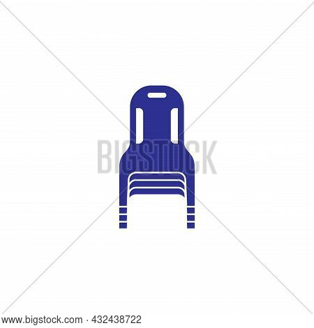 Plastic Chairs Stacked Icon Sign Symbol User Guid For Keeping Organization
