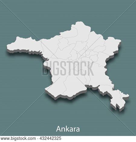 3d Isometric Map Of Ankara Is A City Of Turkey