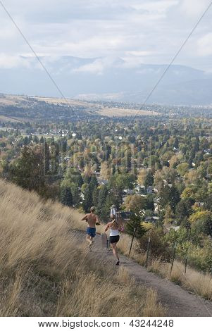 Runners on Mount Sentinel