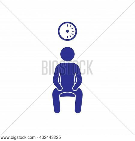 Waiting For 30 Mins Post Influenza Vaccination Icon Sign