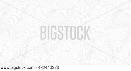 Subtle Minimal Vector Seamless Pattern, Thin Curved Lines. Modern Wide Background. Abstract Dynamica