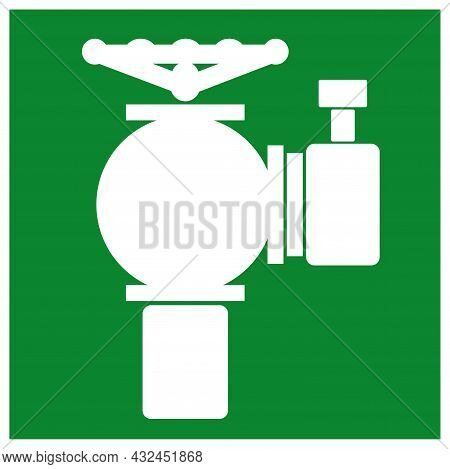 Fire Hydrant Symbol Sign ,vector Illustration, Isolate On White Background Label .eps10