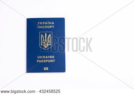 Passport Of A Citizen Of Ukraine. Mock Up