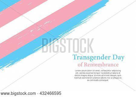 Grunge Styled Brush Stroke Flag Of Transgender Pride
