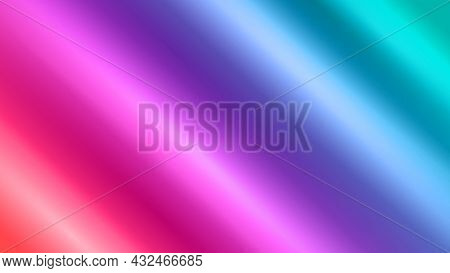 Abstract Red Green Blue Background With Waves. Color Abstraction. Neon Color Style. Modern Design Ba