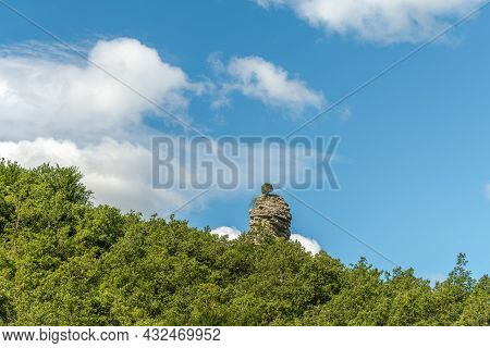 Rocky Outcrop In The Méouge Gorges In The Drome. France.