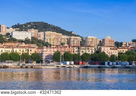 Ajaccio, France - June 30, 2015: Port Of Ajaccio On A Sunny Morning, Seaside View, Corsica