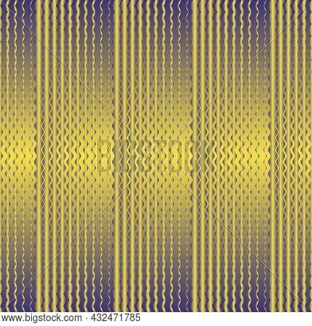 Yellow And Purple Zigzag Seamless Pattern. Pantone Illuminating And Rhodonite. Vector Illustration