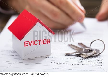 Home Eviction. Tenant Evicted From House. Debt Document