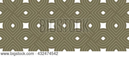 Geometric Seamless Pattern, Vector Trendy Vintage Tiling Endless Background, Geometrical Decorative