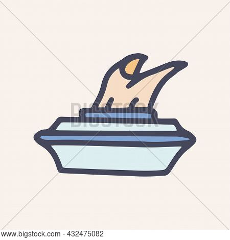 Pack Of Napkins Color Vector Doodle Simple Icon