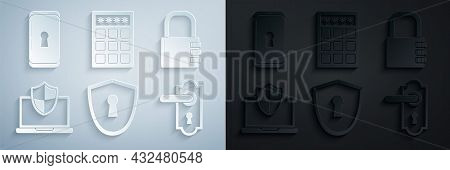 Set Shield With Keyhole, Safe Combination Lock, Laptop Protected Shield, Door Handle, Password Prote