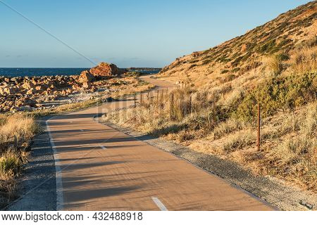 New Bicycle Lane Along The O'sullivans Beach Coast With Picturesque Views, South Australia