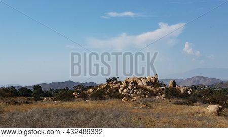 Natural Rock Outcropping Semi-desert Of Southern California.