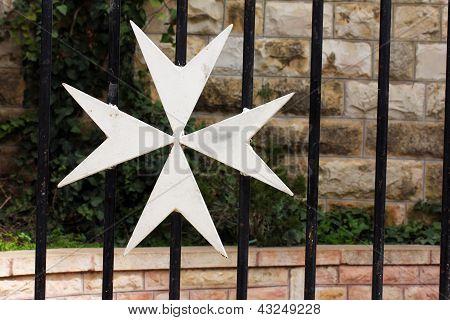 Maltese Cross. Jerusalem. Israel