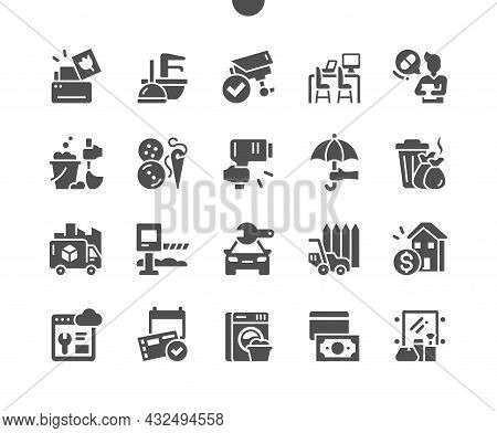Services. Different Service Of People. Print, Plumbing, Security, Coworking, Medical, Cleaning Servi