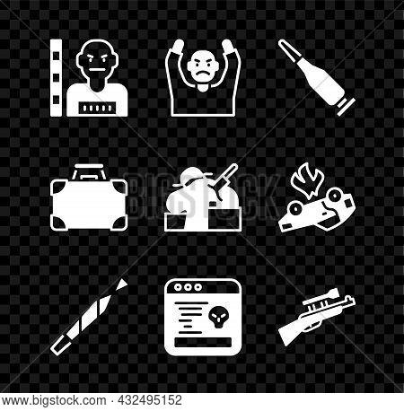 Set Suspect Criminal, Thief Surrendering Hands Up, Bullet, Marijuana Joint, System Bug, Sniper Rifle
