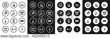 Set Diagnostics Condition Of Car, Paint Spray Gun, Car Brake Disk With Caliper, Alloy Wheel, Gear Sh