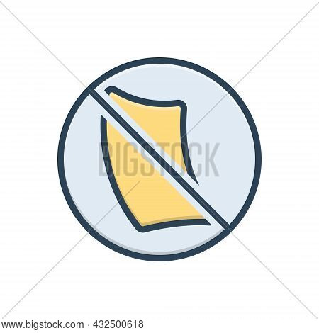 Color Illustration Icon For Paperless Cancel Invalidation Defeasance Automatic Bureaucracy Paperfree