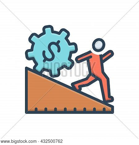 Color Illustration Icon For Overreach Regulatory People Business Citizen Requirement Tax