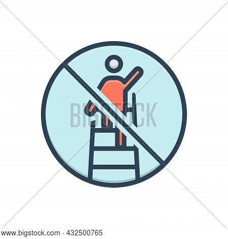 Color Illustration Icon For Overreach Restriction Estoppel Remonstrant Citizen People