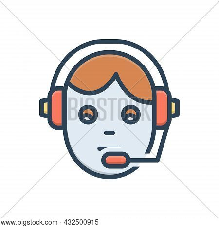 Color Illustration Icon For Support Telecommunications Customer-support Customer Support Customer-se