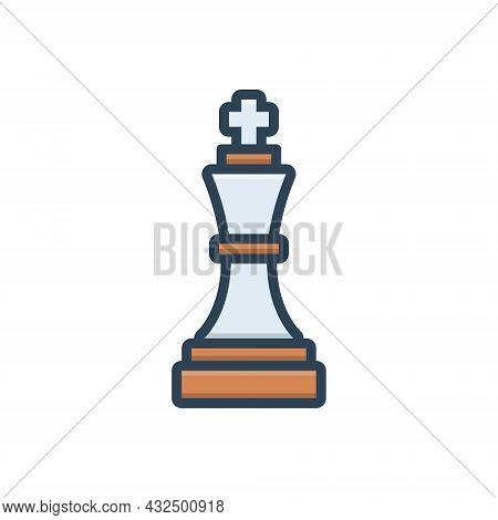 Color Illustration Icon For Tactical-advantage Strategic Strategical Military Martial