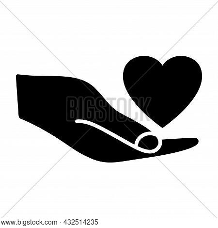 Heart In The Hand. Giving Heart For Transplant, Organ, Donation, Health, Voluntary, Nonprofit Organi