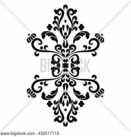 Royal Filigree Motif.mehndi Pattern. For The Design Of Wall, Menus, Wedding Invitations Or Labels, F