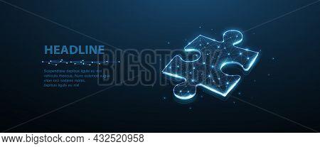 Puzzle. Business Stategy, Success Solution, Jigsaw Games Symbol. Idea Metaphor. Creative Idea, Conne