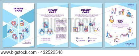 Infant Care Brochure Template. Baby Health Care. Nappy Changing. Flyer, Booklet, Leaflet Print, Cove