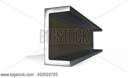 C-beam Metal Profile. Isolated Cg Industrial 3d Illustration