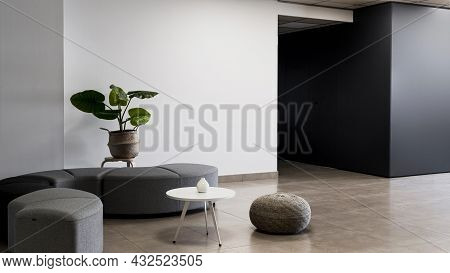Corporate Building With Minimalist Empty Room 2. High Quality Beautiful Photo Concept