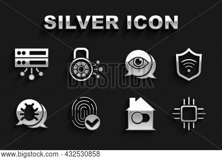 Set Fingerprint, Shield With Wifi Wireless, Processor Microcircuits Cpu, Smart Home, System Bug, Eye
