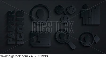 Set Magnifying Glass For Search, Productive Human, Resume, Create Account Screen, Project Team Base