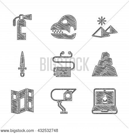 Set Museum Audio Guide, Security Camera, Online Museum, Rock Stones, Brochure, Dagger, Egypt Pyramid