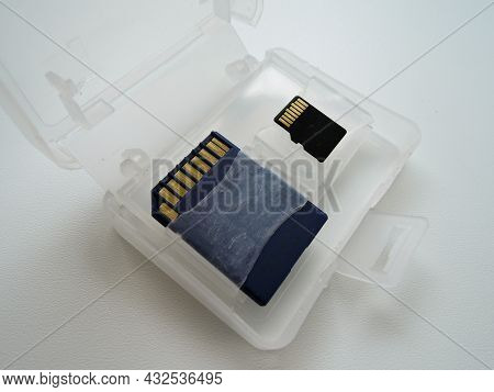 An Sd And Micro Sd Memory Card To Use When Taking Pictures On Your Digital Camera. These Two Secure