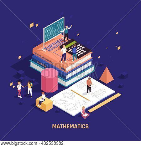 Stem Education Mathematics Program Mathematical Practices Isometric Background Composition Teacher C