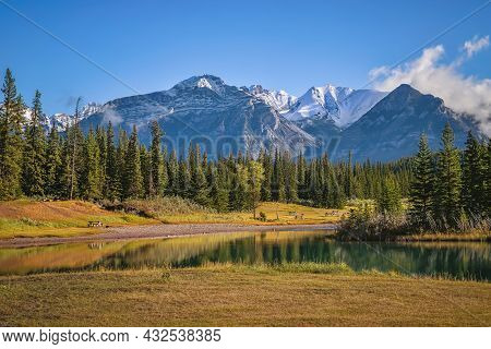 Summer Mountain Views At Cascade Ponds In Banff
