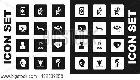 Set Helping Hand, Armchair, Psychology, Psi, Psychologist Online, Tear Cry Eye, Broken Heart Or Divo