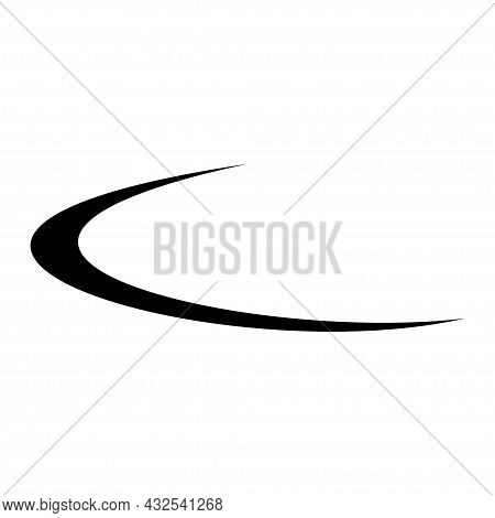 Swoosh Company Logo Business Vector Template Illustration.