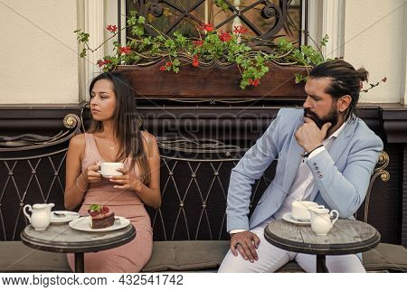 Lovely Morning. Happy Valentines Day. Stylish Couple In Love Embrace In Cafe. Man And Woman On Roman