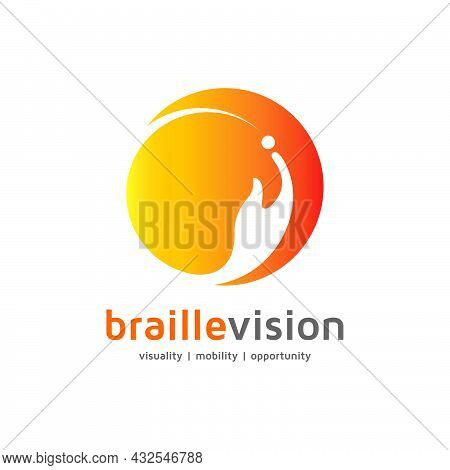 The Following Orange Red Combined Logo Presents Vision Impairment Uniformity Of Braille Alphabets An