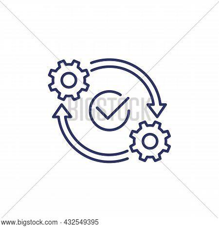 Optimization Or Optimize Line Icon On White