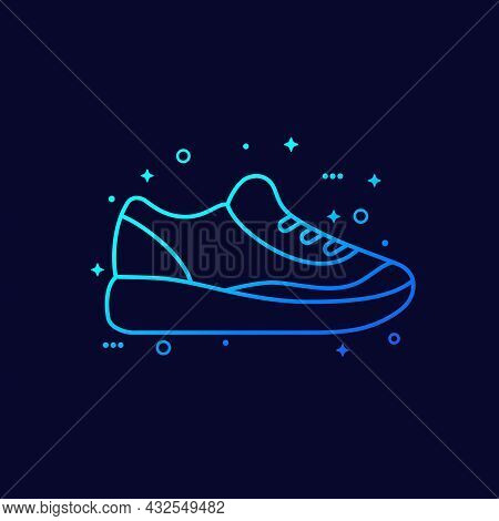Running Shoe Icon, Trainers Or Sneakers, Vector
