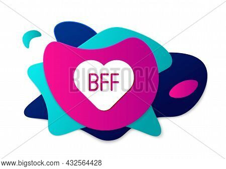 Color Bff Or Best Friends Forever Icon Isolated On White Background. Abstract Banner With Liquid Sha
